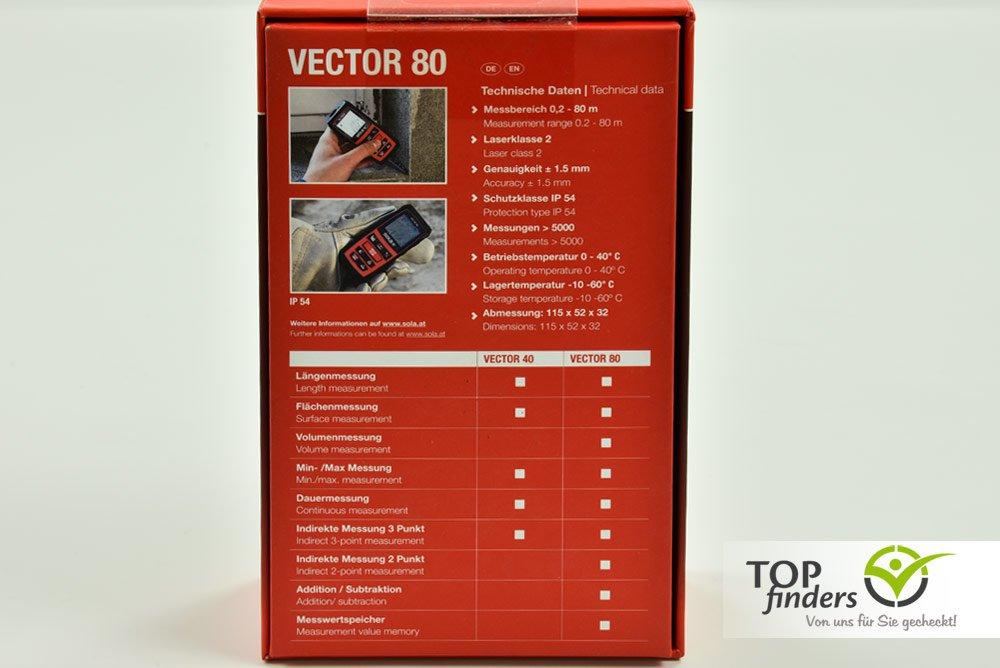Laser entfernungsmesser sola vector 80